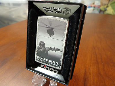 United States Marines The Few The Proud Usmc Zippo Lighter Mint In Box