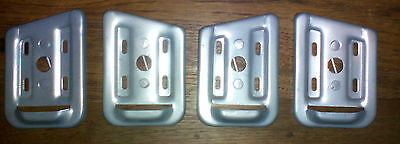 Triumph TR3A TR3B Sidescreen Mounting Brackets Soportes Ventanillas laterales X4