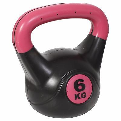 Kettlebell Gym Kettle Workout Bell Training Kettlebells Fitness Weights 6KG Pink