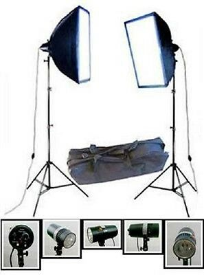 Set de estudio, juego de estudio 2x Flash estudio 160WS + 2x Softbox + 2x
