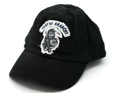 HAT - SONS OF ANARCHY Flex Fit Appliqued Embroidered Ball Cap FREE SHIPPING