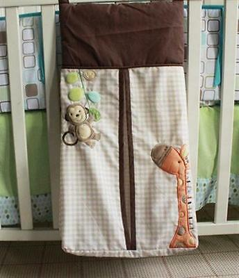 Baby Embroidered  Diaper Nappy Stacker Bag - 5 Designs Available