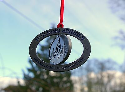 Building Bridges Grand Lodge of Washington WA State Freemasons Mason Ornament