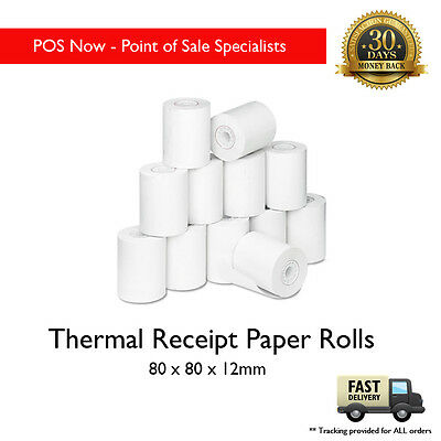 80mmx80mm Thermal Receipt Paper Rolls - Superior 24 PK