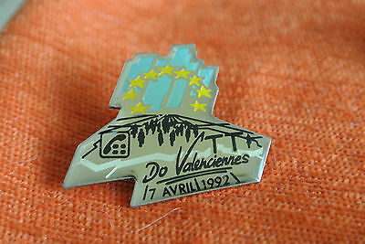 12062 Pin's Pins Ptt La Poste France Telecom Valenciennes 17 Avril 1992 Vtt
