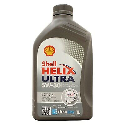 Shell Helix Ultra ECT C3 5W-30 Fully Synthetic Car Engine Oil 1 Litre 1L
