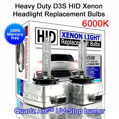 6000K Heavy Duty D3S D3R OEM HID Xenon Headlight Replacement Bulbs (Pack of 2)