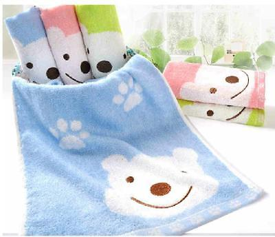 100% Bamboo Fiber kids Baby Sports Bath Face washers Towels Winnie bear gift