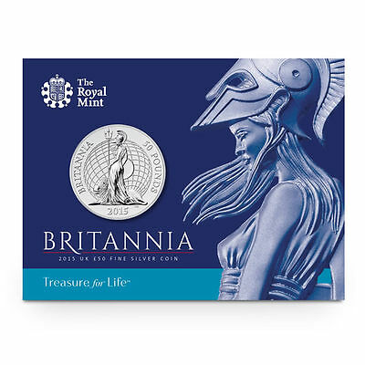 The Royal Mint Britannia 2015 UK £50 Fine Silver Coin - UK15BR50