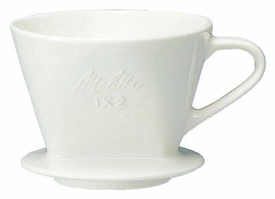 Melitta Pottery Dripper Coffee Brewer White 2-4 cup SF-T 1?2 from Japan