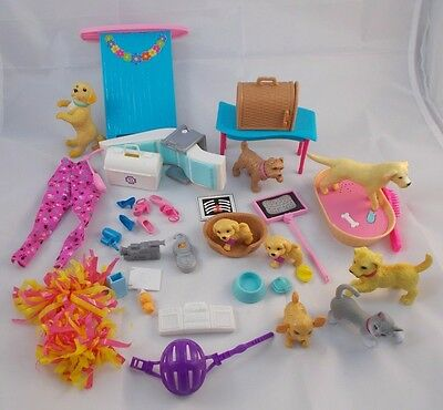 Barbie Doctor Dentist Vet Miscellaneous Lot Pets Dogs