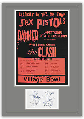 The Clash Concert Poster and Autographs Memorabilia Poster  2 Sizes