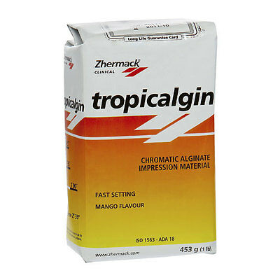 TROPICALGIN ALGINATO CROMATICO ZHERMACK 10x453gr . DENTAL ALGINATE.