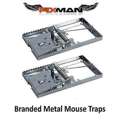 REUSEABLE METAL MOUSE TRAPS Bait Mice Vermin Rodent Pest Control Mousetraps Trap