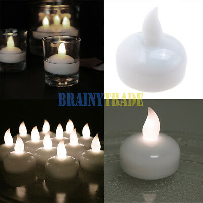 Novelty Place Waterproof Flameless Floating Electric LED Tea Lights Float  Candle