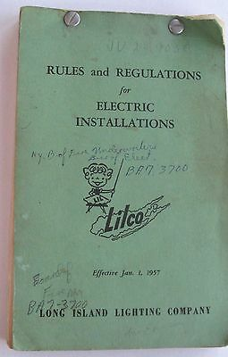 Booklet  Long Island Lighting Co. Rules & Regualations For Elec. Installation 57