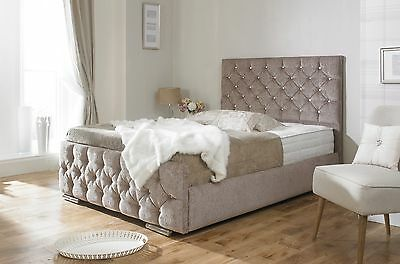 Monoco Upholstered Bed Frame storage 3' Single 4'6 Double 5' King size