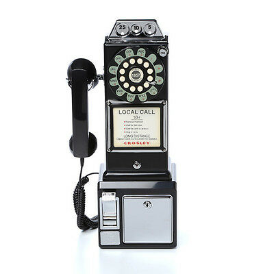 Vintage Pay Phone Coin Telephone Rotary Retro Classic Payphone Gift Call Box