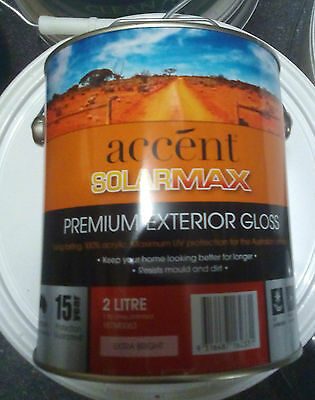 Solarmax Woodland Grey Gloss Exterior 2L Pretinted Paint Can Freight