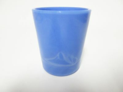 Rare Opaque Blue Akro Agate Votive Candle Holder