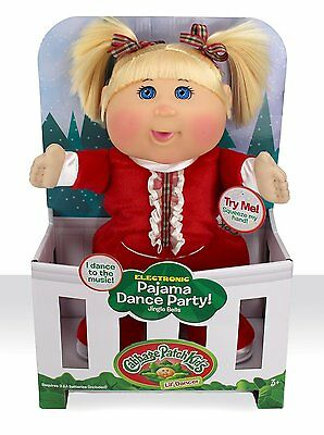 "Cabbage Patch Kids 12.5"" Holiday Pajama Dance with Me Toddler Doll New"