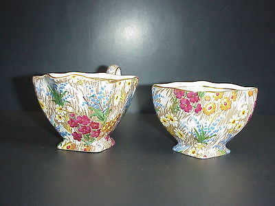 Royal Winton Grimwades Sugar & Creamer Set Marguerite Chintz