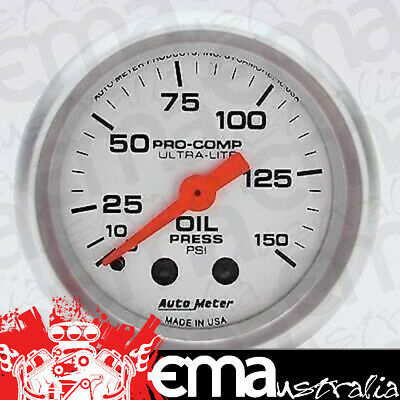 Autometer Ultra Lite 2-1/16 Oil Pressure Gauge 4323