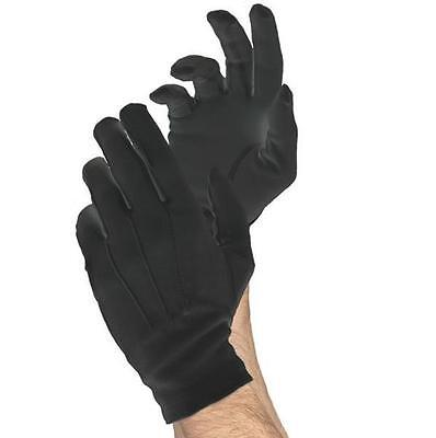 Men's Short Black Santa Claus Gloves Butler Cosplay Gentleman