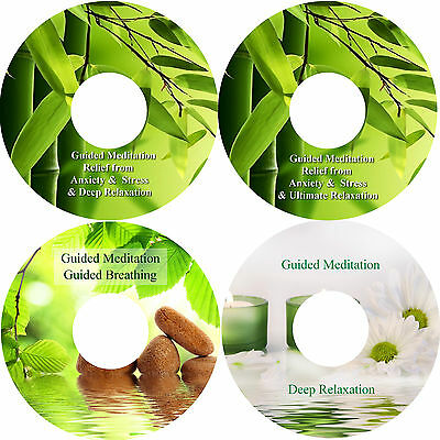 Guided Meditation Relief Of Anxiety & Stress Breathing & Deep Relaxation 4 CDs