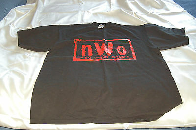 As New 1990s New World Order Wrestling WCW NWO Black T-Shirt XL Made in USA