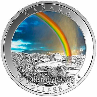 Canada 2016 Weather Phenomenon Radiant Rainbow $20 Pure Silver Prf FULL OGP BOX