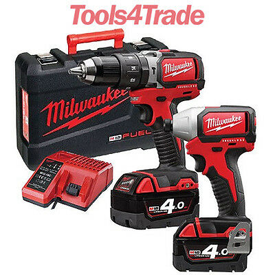 Milwaukee M18BLPP2B-402C 18v Li-Ion Brushless Twin Pack 2 X 4ah Batteries