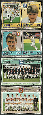 ST.VINCENT Grenadines 1985 CRICKETERS (3rd set) Set 6 Values FINE USED