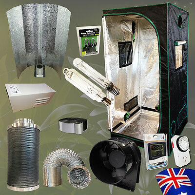 """Hydroponics Reflector 600w HPS MH Grow Light 6"""" Carbon Filter Duct Fan Grow Room"""