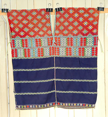 Karen hill tribe textile vintage shirt boho fabric hand woven embroidered Apr9