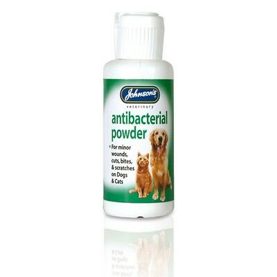 Johnsons Dog Cat Kitten Puppy Anti Bacterial Antiseptic Wound Powder Treatment