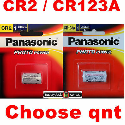 Genuine Panasonic CR123A or CR2 Lithium 3V Battery for cameras range finders