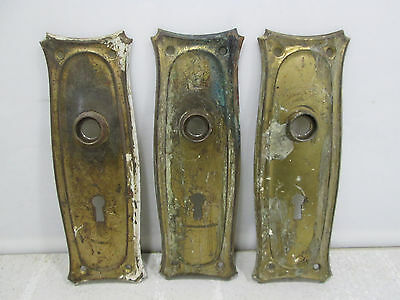 3 Vintage Metal Door Backplates Classic Design