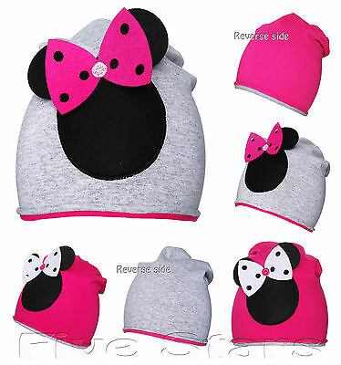 new baby/toddler/kid girl minnie mouse hat cotton reverse cap size 3-10 years