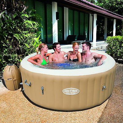 Lay Z Spa 2016 Palm Springs Inflatable Portable Hot Tub Jacuzzi 4-6 Person