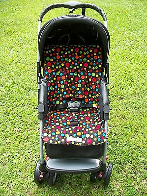 *BLACK,DOTS*universal stroller,pram,car seat liner set*NEW*