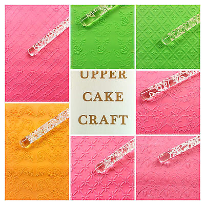 Cake Design Acrylic Embossed Rollers Non Stick Fondant Icing Uk Company