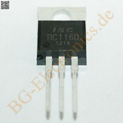 2 x TIC116D Triac 5W 400V 8A  ISC TO-220 2pcs