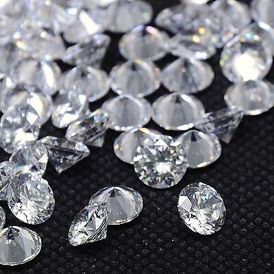 50PCS Crystal Clear Cubic Zirconia Loose Stone Lot 2.5mm Faceted Craft Jewelry
