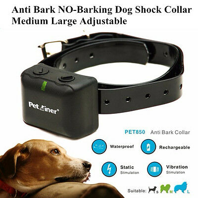 Rechargeable Anti Bark Shock Collar For Medium Large Dog No Barking Waterproof