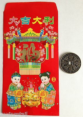 LUCKY CHINESE COIN & ENVELOPE - Wealth Protection & Good Luck - Chinese New Year