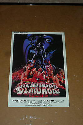 RARE VINTAGE DEMONOID MESSENGER OF DEATH MOVIE POSTER Presented by MEDIA 19 X 13