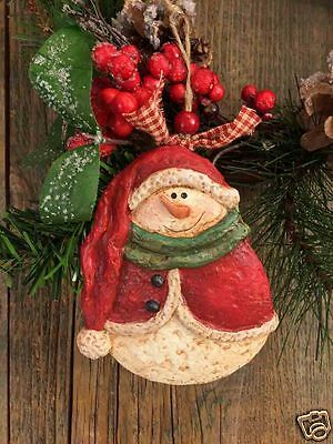 """Beeswax Ornament Hand Painted Snowman in Stocking Cap - 3.5"""" x 5""""  FREE SHIPPING"""