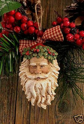 """Beeswax Ornament Hand Painted Old World Santa - 2.5"""" x 4.5"""" FREE SHIPPING"""