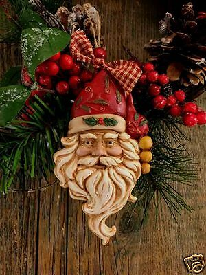 """Beeswax Ornament Hand Painted Vintage Santa - 3"""" x 5.5""""   FREE SHIPPING"""